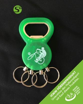 Schlüsselanhänger 2in1 - Radball grün - ICWW Förderprodukt