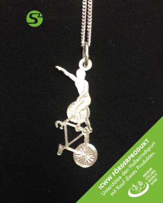 Silberschmuckanhänger mit Kette - Standsteiger Art 360 - ICWW Förderprodukt