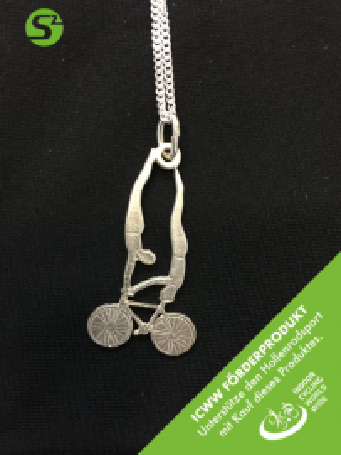 Silberschmuckanhänger mit Kette - Handstand/Kopfstand Art 171 - ICWW Förderprodukt