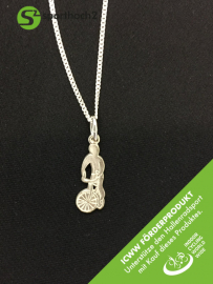 Silberschmuckanhänger mit Kette - Radball Art 186 - ICWW Förderprodukt