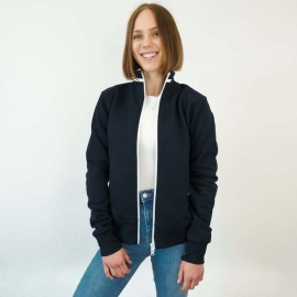 sporthoch2 rehab dialysis jacket sweat/ womens jacket /four-way zipper on sleeves - jacket with stand-up collar and outside pockets