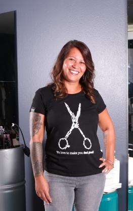 T-Shirt SCISSORS LADY - BAB Originals