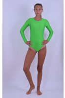 Sport-Body tiefer Rundhals / Langarm