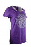 T-Shirt Rundhals Melange - FLOW / Mandala