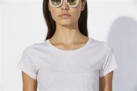 T-Shirt aus Bio-Baumwolle mit Rundhals- Premium