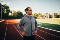 MÄNNER - Active Sports Hoody Jacke Slogan - Running/Training