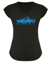 Frauen Funktions-Trainings- T-Shirt AVUS - VAULTING EDITION