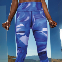 PREMIUM Sportleggings - DESIGN AURAblue