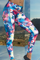 PREMIUM Sportleggings - DESIGN FLOWER