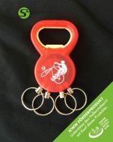 Schlüsselanhänger 2in1 - Radball rot - ICWW Förderprodukt