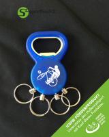 Schlüsselanhänger 2in1 - Radball blau - ICWW Förderprodukt