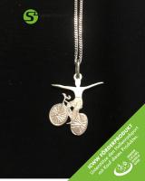 Silberschmuckanhänger mit Kette - Reitsitzsteiger Art 169 - ICWW Förderprodukt