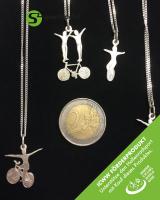 Silberschmuckanhänger mit Kette - Einrad Art 362 - ICWW Förderprodukt