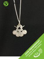 Silberschmuckanhänger mit Kette - Mannschafts-Motiv Art 366 - ICWW Förderprodukt