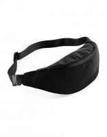 Sports-Waistpack/Gürteltasche - ELEGANT - in silber + schwarz