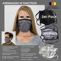 2er PACK / Mund-und Nasen-Maske - Modell HI FUNCTION - Sonderproduktion