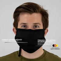 2er PACK / Mund-und Nasen-Maske - Modell HI STANDARD - Sonderproduktion