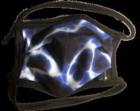 1er PACK / Mund-und Nasen-Maske -KIDS - Modell HI STD DESIGN /BLUE ILUMI - Sonderproduktion