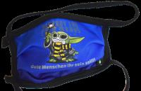 1er PACK / Mund-und Nasen-Maske KIDS - Modell HI STD DESIGN /MASTER YODA - Sonderproduktion