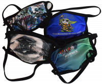 1er PACK / Mund-und Nasen-Maske KIDS - Modell HI STD DESIGN HAPPY HORSES- Sonderproduktion