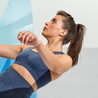 INDIGO DENIM Sports Bra SEAMLESS /Crop Top / Sport-BH / Fitness-Top