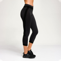 Sportleggings CAPRI - PREMIUM 3/4 BASIC - schwarz