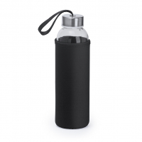 CAMU Glas Trinkflasche mit Cover HERO-Edition - #Travel/Technik