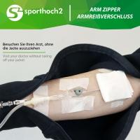 REHAmed-Dialyse Damen Ganzjahresjacke Sweat- Vier-Wege Reißverschluss an Ärmeln - Optimal für Therapie und Sportrehabilitation geeignet